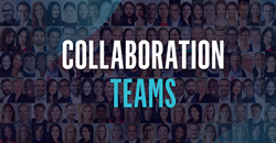 Logo over pictures of Adweek Community Collaboration Teams members