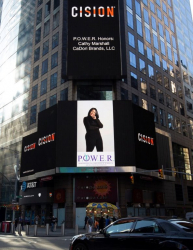 Cathy Marshall, CaDori Brands LLC Showcased on the Reuters Billboard in Times Square by P.O.W.E.R.
