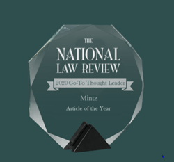 2020 NLR Go-To Thought Readership Award fo legal thought leadership excellence