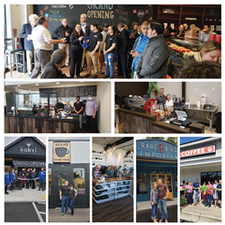 Photos of independent coffee shops opened through Crimson Cup's 7 Steps to Success coffee shop franchise alternative.