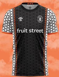New Amsterdam FC Spring 2021 Jersey with the Fruit Street logo.