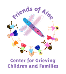 Friends of Aine is the only nonprofit organization in New Hampshire whose sole mission is to support grieving children, teens, and families. Through a network of trained volunteer facilitators, its Good Grief Program assists children and teens with sharing their experiences, exploring topics related to grief, learning coping strategies, and not feeling alone in their grief.
