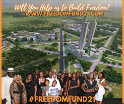 Graphic of City Center in Star Shape with 19 Black Families for the Freedom Fund 21 $500K IndieGoGo Fundraiser for Freedom Georgia Initiative