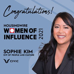 HousingWire award, CIVIC Financial Services, Women of Influence