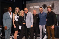 PLANO, TEXAS - SEPTEMBER 23: (L-R) Darius Rucker, Anna Rawson, Renee Parsons, Bob Parsons, Gary Player, Wyndham Clark, and Blair Wheeler attend the PXG Dallas Grand Opening at PXG Dallas on September 23, 2021 in Plano, Texas. (Photo by Rick Kern/Getty Images for PXG)